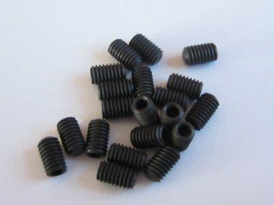 10 Stück Gewindestifte (Wurmschrauben) M3x5mm DIN 913 45H mit Kegelkuppe
