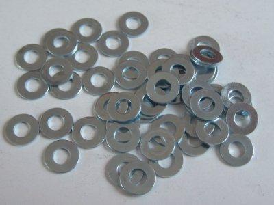 50 Stück Unterlegscheiben (Beilagscheibe) 3,2mm für Schrauben M3 verzinkt