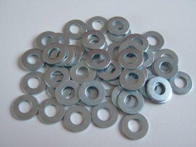 50 Stück Unterlegscheiben (Beilagscheibe) 4,3mm für Schrauben M4 verzinkt