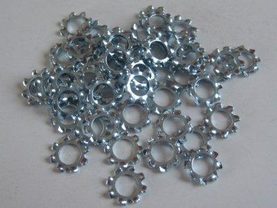50 Stück Zahnscheiben (Fächerscheibe) DIN6797 4,3mm verzinkt