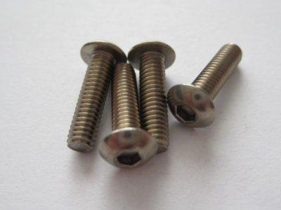 4 Stück Titanschrauben Linsenkopf M4x15mm