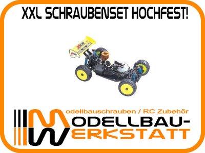 XXL Schraubenset hochfest! HongNor Jammin X1-CR / X1-CR Pro / X1-CR RTR / X1X-CR