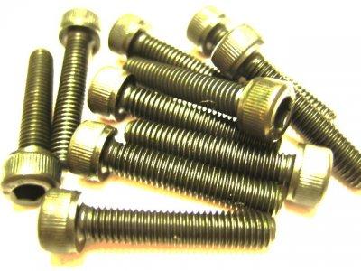 10 Stück Zylinderkopf Inbus M5x25mm DIN 912 12.9