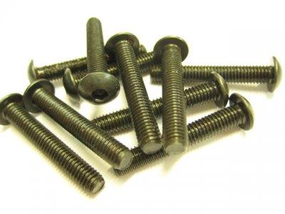 10 Stück Linsenkopf Inbus M5x30mm ISO 7380 10.9