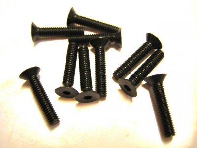 10 Stück Senkkopf Inbus M2,5x12mm DIN 7991 10.9