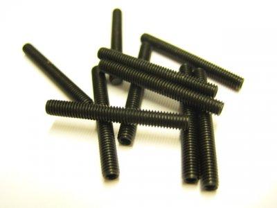 10 Stück Gewindestifte (Wurmschrauben) M3x25mm DIN 913 45H mit Kegelkuppe