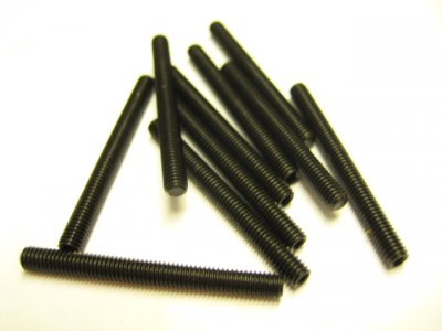 10 Stück Gewindestifte (Wurmschrauben) M3x30mm DIN 913 45H mit Kegelkuppe
