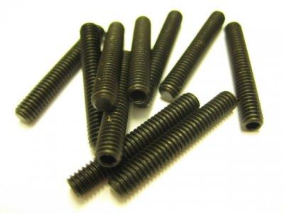 10 Stück Gewindestifte (Wurmschrauben) M4x25mm DIN 913 45H mit Kegelkuppe