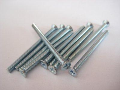10 Stück Senkkopf Kreuz M3x50mm DIN 965A 4.8 Stahl verzinkt