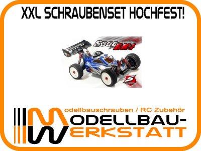 XXL Schrauben Set Stahl hochfest! SWORKz S350 BK1 Buggy