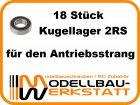 Kugellager-Set für Mugen MBX-7 / MBX-7 ECO / MBX-7T / MBX-7T ECO / MBX-6R / MBX-6 / MBX-6TR / MBX-6T / MBX-6 ECO / MBX-6T ECO