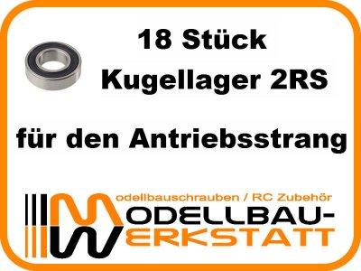Kugellager-Set JQ The Car / Yellow / White / Black / RTR Edition - The E Car / Yellow / Grey / RTR Edition