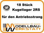 Kugellager-Set Kyosho MP777 / MP7.5 / Inferno ST-RR / Inferno ST-R / Inverno VE / Inferno GT