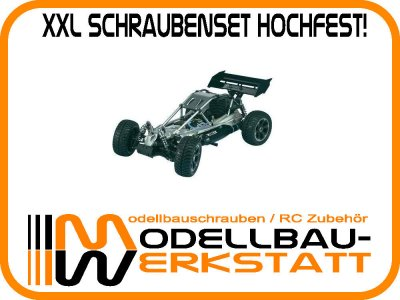 XXL Schrauben-Set hochfest! Reely Alu Fighter 1:8 Buggy 4WD