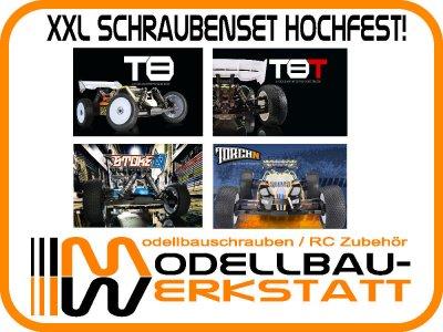 XXL Schrauben Set Stahl hochfest! Absima Team C T8 T8T Torch-N Stoke-N
