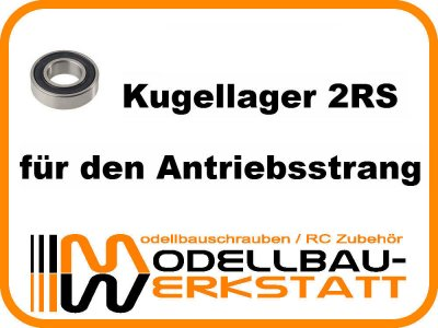 Kugellager-Set Serpent 966 EVO w/8mm 2 Speed Shaft / 966-TE