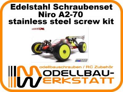 XXL Schrauben-Set Edelstahl A2-70 Mugen MBX-6R / MBX-6 / MBX-6 Mspec