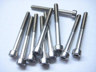 10 Stück Edelstahl Zylinderkopf M4x40mm Inbus Niro A2-70 DIN 912