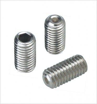 10 Stück Edelstahl Gewindestifte (Wurmschrauben) M5x4mm DIN 913 A2-70 mit Kegelkuppe
