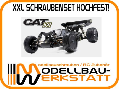 XXL Schrauben-Set Stahl hochfest für Schumacher Cat K1 / K1 Aero