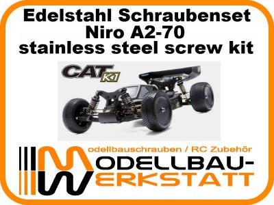 XXL Schrauben-Set Edelstahl A2-70 für Schumacher Cat K1 / K1 Aero