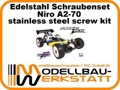 XXL Schrauben-Set Edelstahl A2-70 Mugen MBX-6 ECO Mspec