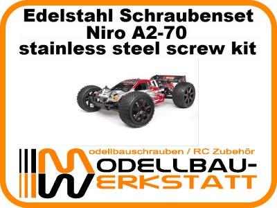 XXL Schrauben-Set Edelstahl A2-70 HPI Trophy 4.6 Truggy