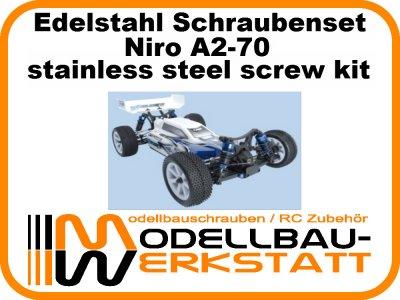 XXL Schraubenset Edelstahl A2-70 LRP S10 BLAST BX TX MT SC TC
