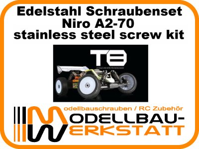 XXL Schrauben Set Edelstahl A2-70 Absima Team C T8 T8T Torch-N Stoke-N