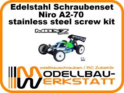 XXL Schrauben-Set Edelstahl A2-70 Mugen MBX-7 ECO