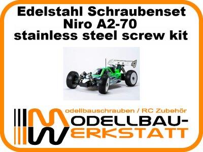 XXL Schrauben-Set Edelstahl A2-70 Mugen MBX-7