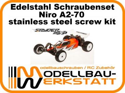 XXL Schrauben-Set Edelstahl A2-70 SERPENT Spyder SRX2 RM