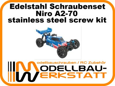 XXL Schraubenset Edelstahl A2-70 LRP S10 BLAST 2 BX TX MT SC TC