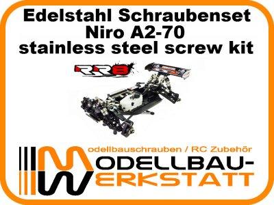 XXL Schrauben-Set Edelstahl A2-70 Radiosistemi RR8