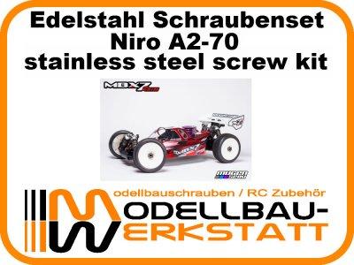 XXL Schrauben-Set Edelstahl A2-70 Mugen MBX-7R