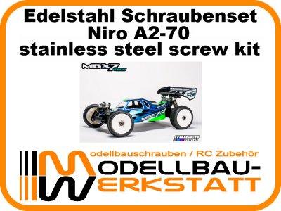 XXL Schrauben-Set Edelstahl A2-70 Mugen MBX-7R ECO
