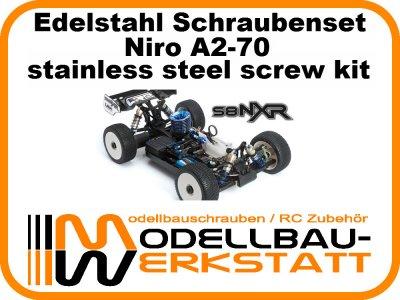 XXL Schrauben-Set Edelstahl A2-70 LRP S8 NXR