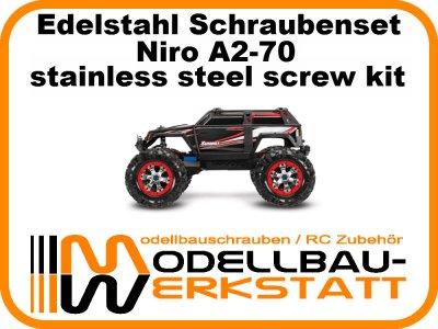 // Stahl hochfest Traxxas E-Revo Brushless Edition 1:8 Schraubenset in Edelst