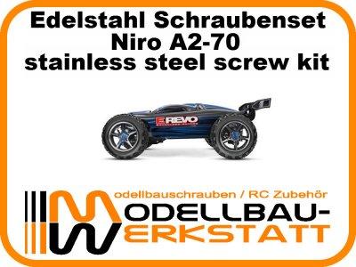 XXL Schraubenset Edelstahl A2-70 TRAXXAS E-Revo 1:10 Brushless Edition