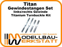 Titan Gewindestangen Set für Associated RC8B3.2 RC8B3.2e RC8B3.1 RC8B3.1e RC8B3 RC8B3e Titanium Turnbuckle Kit