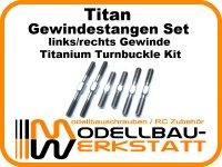 Titan Gewindestangen Set für Kyosho für MP9 TKI 2/3/4 MP9e EVO TKI 4 Titanium Turnbuckle Kit