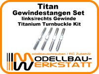 Titan Gewindestangen Set für SWORKz S35-4 S35-4E S35-3 S35-3E Titanium Turnbuckle Kit