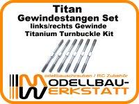 Titan Gewindestangen Set für Losi 8ight 4.0 3.0 8ight-E 4.0 3.0 Titanium Turnbuckle Kit
