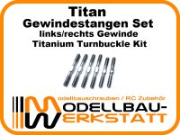 Titan Gewindestangen Set für Serpent SRX8 Titanium Turnbuckle Kit