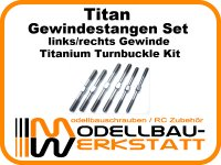 Titan Gewindestangen Set HotBodies HB D817 V2 / D817 Titanium Turnbuckle Kit