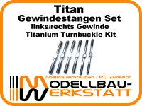 Titan Gewindestangen Set für HotBodies HB E817 D815 Titanium Turnbuckle Kit