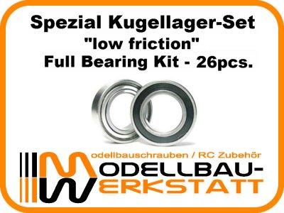 """low friction"" Spezial Lagerset für Team Associated RC8B3.1e"