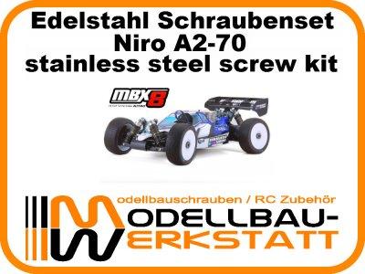 XXL Schrauben-Set Edelstahl A2-70 für Mugen MBX-8