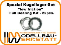 """""""low friction"""" Spezial Kugellager-Set für JQ The E Car / Yellow / Grey / RTR Edition"""