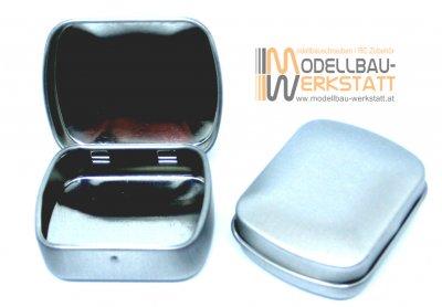 Blechdose 39x32x15mm mit Scharnierdeckel (1 Stück)